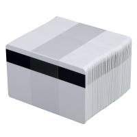 Белые пустые карты из ПВХ с магнитной полосой HiCo (5 упаковок по 100 карт)